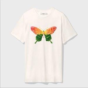 Pangaia Organic Cotton Rose Butterfly T-Shirt